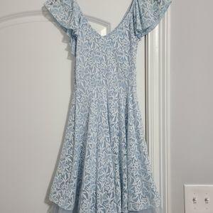 Light Blue Lace Dress w/ Back Details